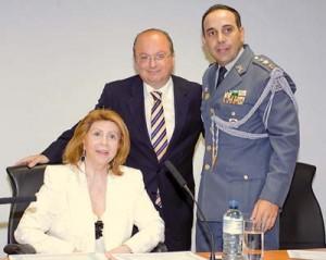 Adelina Alcantara Machado, Ovadia Saadia e coronel Marcelo Pignatari