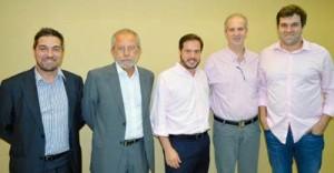 Nilton Nantes, Luiz Guimarães, Alex Mendes, Normando Pierini e Adilson Durante Filho