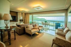 Cristal Residence: sala integrada ao terraço gourmet