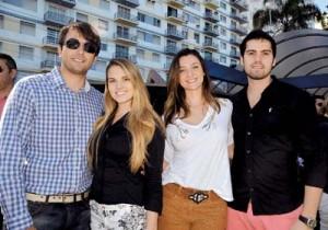 Diogo Barrosoe Carolina Moino, Juliana Barroso e Jhonathan Bastos