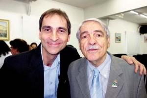 Jornalista Luis Trevisan e o cirurgião-dentista Lamartine Lélio Burnardo