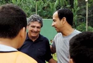 Manoel Maria e o prefeito Paulo Alexandre Barbosa
