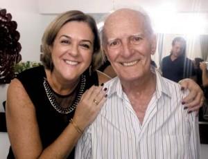 Elizabeth e o pai José Roberto da Costa