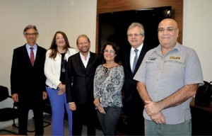 Marco Ferraz, Magda Nassar, Guilherme Paulus, Maura Leão, Edmar Bull e Luiz Del Vigna